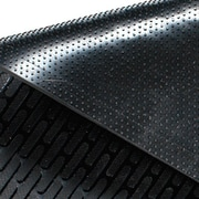 Guardian CleanStep Outdoor Rubber Scraper Mat, 72 x 48, Black