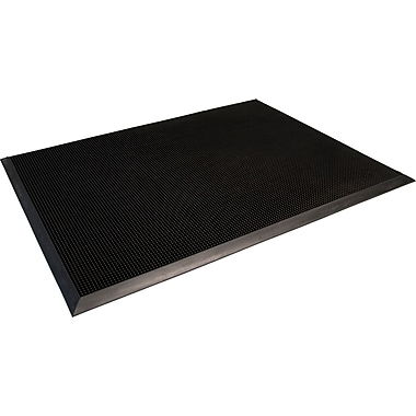 Guardian Brush Tip Rubber Entrance Mat 72in. x 36in., Black