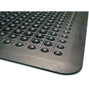 "Guardian Flex Step Polypropylene Anti-Fatigue Mat 36"" x 24"", Black"