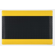 "Guardian Safe Step Vinyl Anti-Fatigue Mat 60""L x 36""W, Black/Yellow"