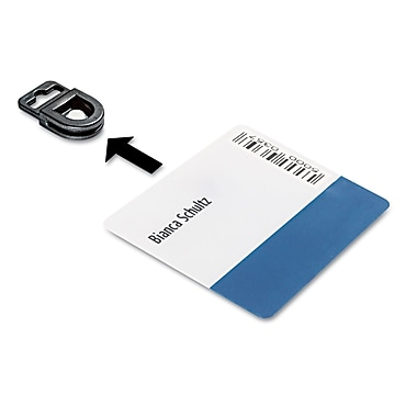 Durable Card Fix ID Card Holder, Black, 50/Box