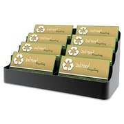 Deflect-o® Sustainable Office™ Recycled Business Card Holder With 8 Compartment, Black
