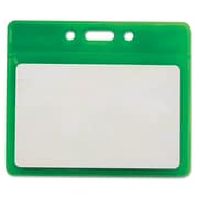 Advantus® 3 1/2 x 2 1/2 Horizontal Reflective Badge Holders, Green, 25/Pack