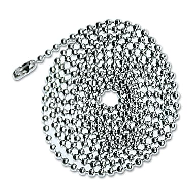 Advantus® 36in. ID Card Badge Holder Chain, Nickel Plated, 100/Box