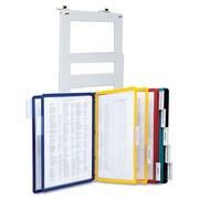 Durable Polypropylene Vario Partition Wall Bracket System, 10-Pocket
