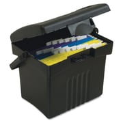 Storex Letter Portable File Storage Box, 14 1/2 x 14 x 11 1/4, Black