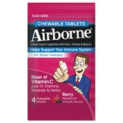 Airborne® Immune Support Supplement Chewable Tablets, Berry, 4 Pack