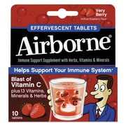 Airborne® Immune Support Effervescent Tablets, Very Berry, 10/Pack