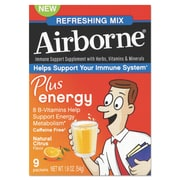 Airborne® Plus Energy™ Packet, Citrus, 9/Pack