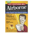 Airborne® Hot Soothing Mix Packet, Honey Lemon, 10/Pack