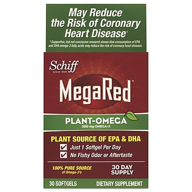 Schiff® MegaRed® Plant Omega Softgels, 300 mg, 30/Pack