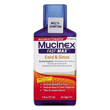 Mucinex® Maximum Strength Fast Max Cold & Sinus, 6 oz. Bottle