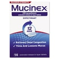 Mucinex® Max Strength Expectorant Tablets, 12 Hour Relief, 14/Pack