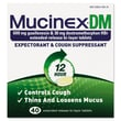 Mucinex® DM Expectorant and Cough Suppressant Tablets, 12 Hour Relief, 40/Pack