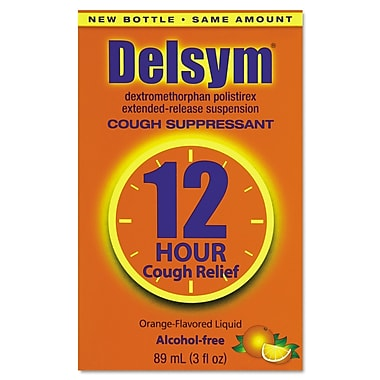 Delsym® Alcohol Free Adult Cough Suppressant, 12 Hour Relief, Orange, 3 oz. Bottle