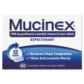 Mucinex® Expectorant Regular Strength Tablets, 12 Hour Relief, 60/Pack