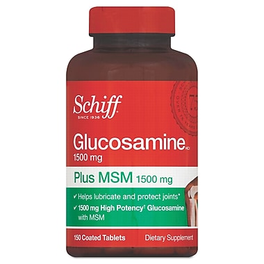Schiff® Glucosamine Plus MSM Tablets, 1500mg, 150/Pack