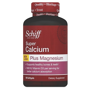 Schiff® Super Calcium Plus Magnesium With Vitamin D Softgels, 90/Pack