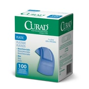 Medline® Curad® Plastic Blue Food Service Adhesive Bandage, 1 x 3, 1200/Pack