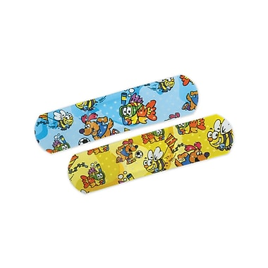Curad® Medtoons™ Adhesive Bandages, Cartoon, 3in. L x 3/4in. W, 50 Bandages/Box, 24 Boxes/Case