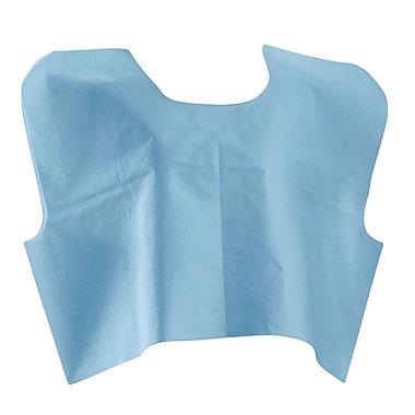 Medline® Disposable Tissue / Poly / Tissue Premium Exam Cape, 30in. x 21in., Blue