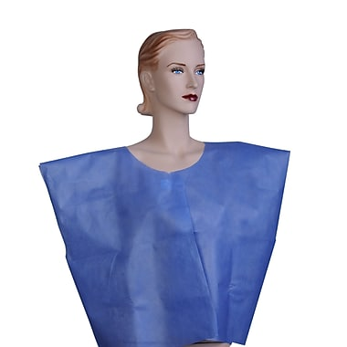 Medline® Disposable Multi Layer Patient Cape, Regular/Large, Dark Blue