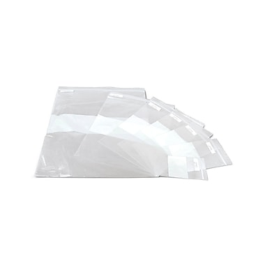 Medline® Plastic Zip Closure Bags With White Write-On Block, Clear, 9in. x 12in., 1000/Pack
