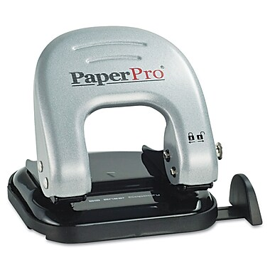 PaperPro® 20-Sheet Three-Hole Manual Punch, Black/Silver