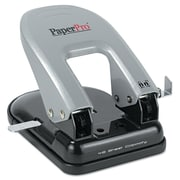 PaperPro® 40-Sheet Traditional Two-Hole Manual Punch, Black/Silver