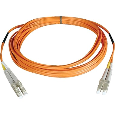 Tripp Lite 10' Fiber Optic LC/LC Duplex Patch Cable, Orange