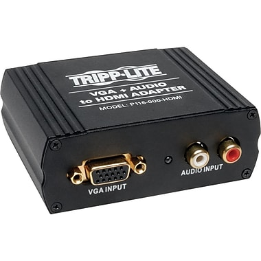 Tripp Lite VGA and Audio To HDMI Converter, Black