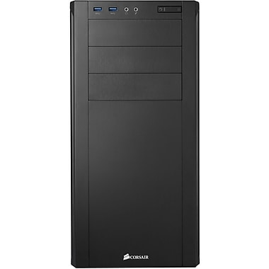 Corsair® 200R Carbide Mid Tower System Cabinet, Black