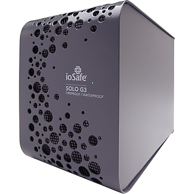 ioSafe® Solo G3 2TB USB 3.0 External Hard Drive, Gray