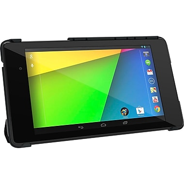 rOOCASE Origami SlimShell Case Cover For Google Nexus 7 FHD, Black