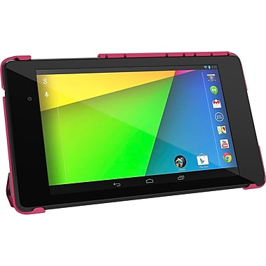 rOOCASE Origami SlimShell Case Cover For Google Nexus 7 FHD, Magenta