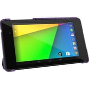 rOOCASE Origami SlimShell Case Cover For Google Nexus 7 FHD, Purple