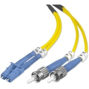 Belkin™ 6.6' Fiber Optic Singlemode LC/ST Duplex Patch Cable, Yellow