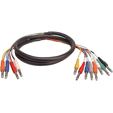 Hosa Technology 1M STP-800 Series 8 Channel 1/4in. TRS to Dual 1/4in. TS Insert Snake Audio Cable