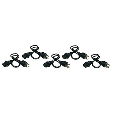 Tripp Lite 2' NEMA 5-15P to IEC-320-C13 Power Cord, Black, 5/Pack