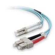 Belkin™ 65.62' Fiber Optic LC/SC Duplex Patch Cable, Aqua