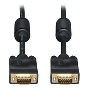Tripp Lite 30' HD-15 Male SVGA/VGA Monitor Gold Cable With RGB Coax, Black