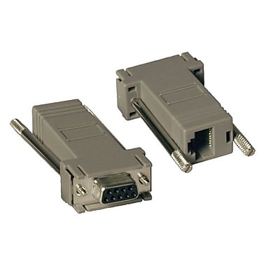 Tripp Lite Null Modem RJ45 To DB9 Adapter Kit, Gray