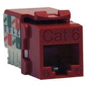 Tripp Lite Cat6/Cat5e 110 Style Punch Down Keystone Jack, Red