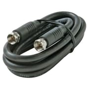STEREN BL-215-403BK 3' RG6 Coaxial Patch Cable, Black