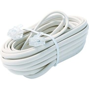 STEREN® 15' 6-Wire Premium Telephone Line Cable, White
