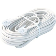 STEREN® 25' 6-Wire Premium Mod Telephone Line Cable, White