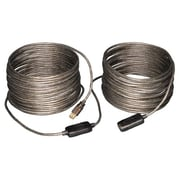 Tripp Lite 65' USB2.0 A/A Male/Female Active Extension/Repeater Cable, Gray