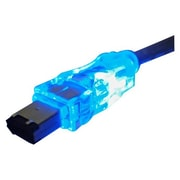 QVS® 15' FireWire/i.Link 6-Pin to 6-Pin Translucent Cable With Blue LED