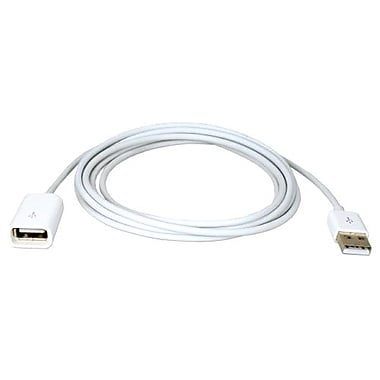 QVS® 3.3' USB Male/Female Dock Sync and Charger Extension Cable, White