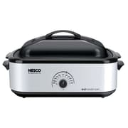 Nesco® 18 qt Roaster Electric Oven With Porcelain Cookwell, Silver